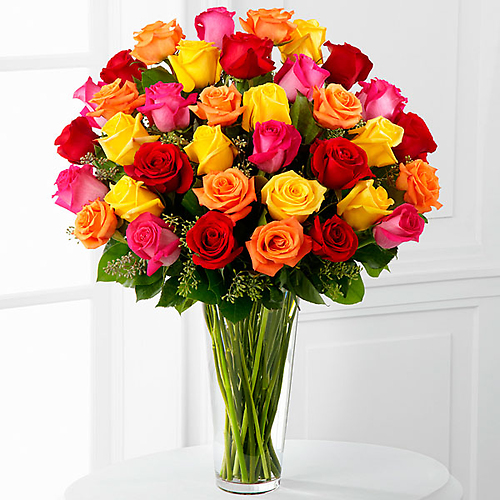 Bright Spark™ Rose Bouquet