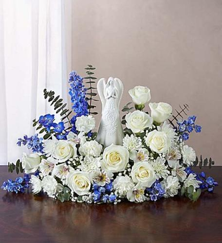 Serenity Angel Arrangement Blue and White