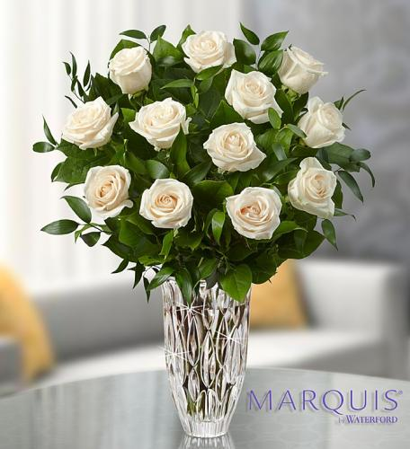 Marquis by Waterford Premium White Roses