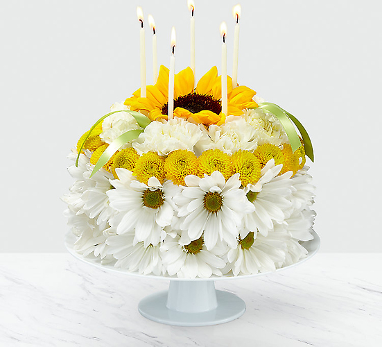 "Birthday Smiles â""¢ Floral Cake"