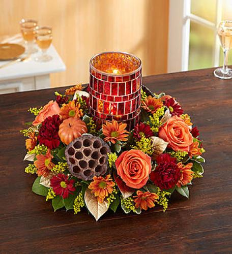 Shimmering Mosaic Centerpiece