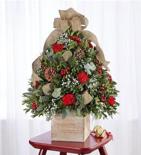 Cozy Cabin Holiday Flower Tree