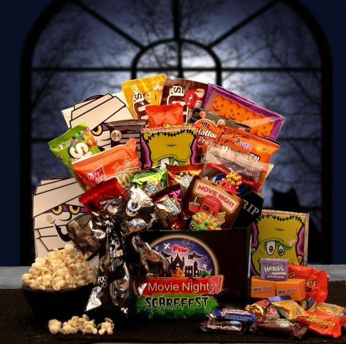 Halloween Scarefest Movie Gift Box w/ 5.00 Redbox Card
