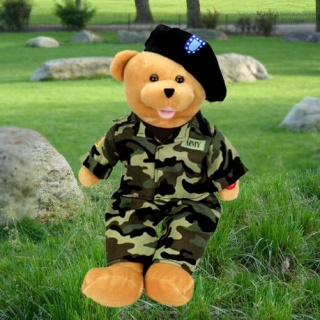 American Hero Army Bear -  ?The Army Goes Rolling Along