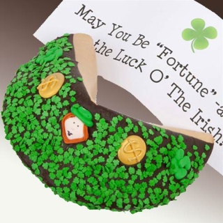 St Patrick\'s Day Giant Fortune Cookie