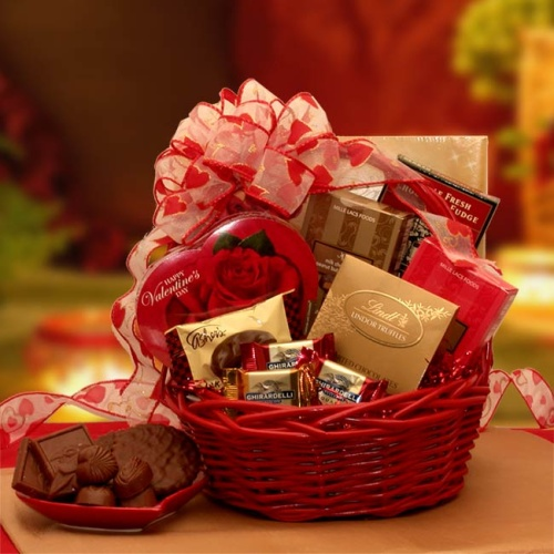Chocolate Inspirations Valentine Gift Basket