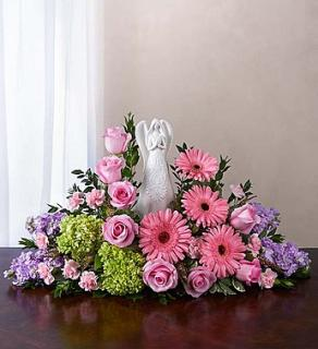 Serenity Angel Arrangement Pink and Purple
