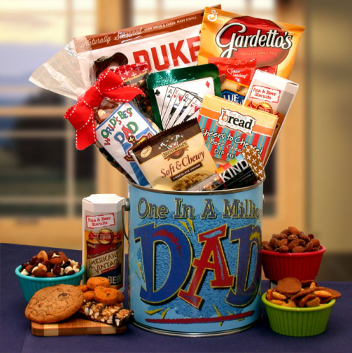 You\'re One In A Million Dad Premium Snacks & Nuts Gift Pail