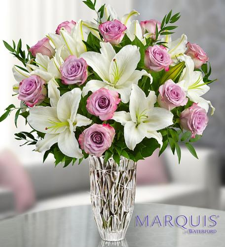 Marquis by Waterford Purple Rose & Lily Bouquet
