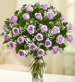 Ultimate Elegance  Long Stem Purple Roses